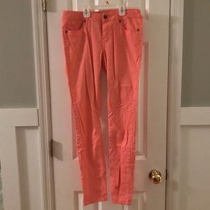 Forever 21 coral jeans